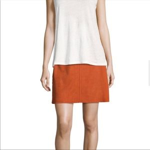 Theory    Irenah Metises Suede Mini Skirt Size 6